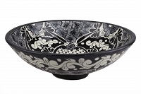 Serena - black spherical vessel sink from Mexico