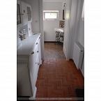 Clinker cotto tile on the floor