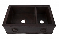 Adelmo - Double kitchen copper sink