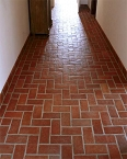 Terracotta - clay rustic floor tiles