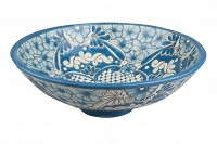 Lorena - blue spherical vessel sink from Mexico