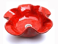 Red ceramic sinks