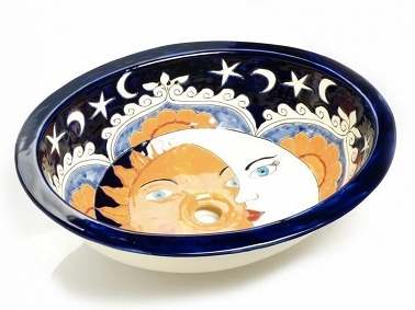 Dafne - Navy Blue Mexican Sink