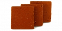 Floor tiles - brick-red terracotta tiles