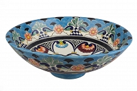 La Reina - colorful spherical vessel sink from Mexico