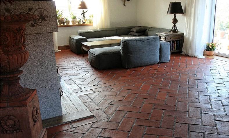 Hand Formed Terracotta Floor Tiles