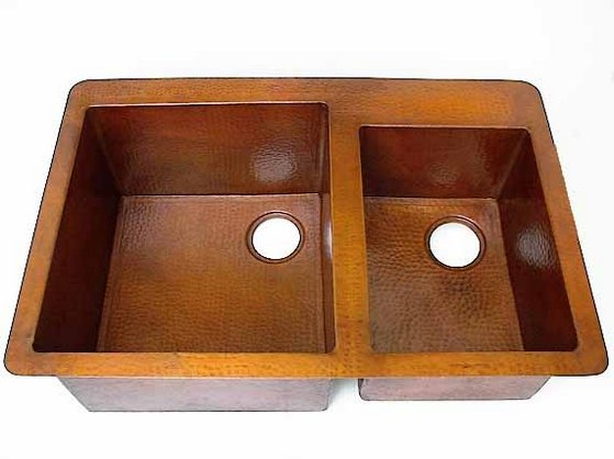 double kitchen sinks mexican sinks tiles and copper. Black Bedroom Furniture Sets. Home Design Ideas