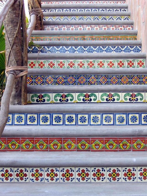 Mexican Stairs Colours Of Mexico