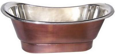 Kupferbadewanne - nickel