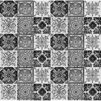 Set of six tile designs - 30 tiles - black and white color