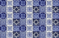 Tono  - blue mexican patchwork