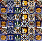 Set of ten tile designs - 30 Tiles