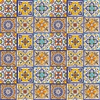 Felipe - Set of six tile designs with relief - 30 Tiles