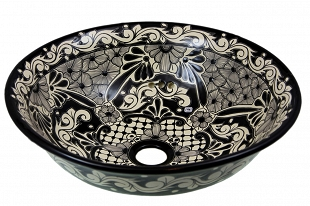 Serena - Black Vessel Sink from Mexico