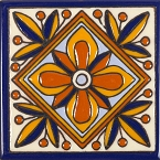 Fuego - 30 Talavera tiles  with relief