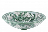 Baila - green spherical Mexican vessel sink