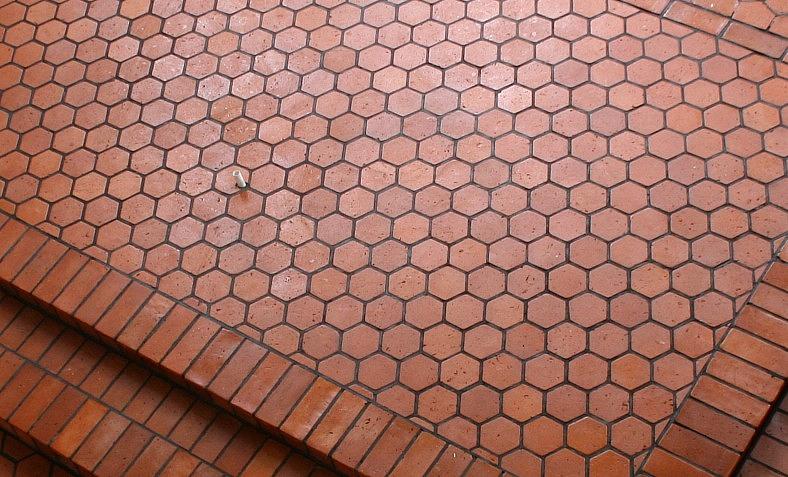 Rustic Hexagonal Terracotta Tiles