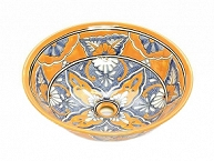 Senalda - Yellow Talavera Vessel Sink from Mexico