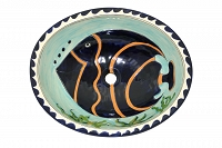 Pesca - Blue mexican sink with fish design