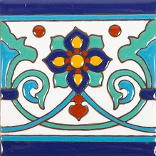 Muse - 30 Talavera tiles  with relief