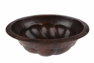 Elicia - oval copper sink from Mexico