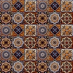 Gael - Set of six tile designs with relief - 30 Tiles