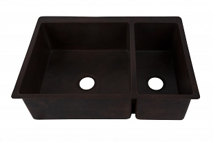 Gabon - Double kitchen copper sink